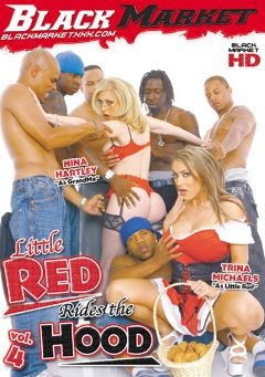 "Adult entertainment movie ""Little Red Rides The Hood 4"" starring Trina Michaels, Nina Hartley & Jon Jon. Produced by Black Market Entertainment."