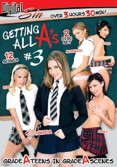 "Adult entertainment movie ""Getting All A's 3"" starring Dakoda Brookes, Coco Ono Velvet & Mina Lee. Produced by Digital Sin."