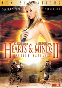 "Adult entertainment movie ""Hearts And Minds 2: Modern Warfare"" starring Ashlynn Brooke, Sadie West & Marie McCray. Produced by New Sensations."