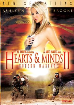 "Adult entertainment movie ""Hearts And Minds 2: Modern Warfare Part 2"" starring Ashlynn Brooke, Sadie West & Marie McCray. Produced by New Sensations."