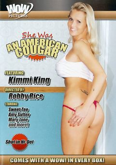 "Adult entertainment movie ""She Was An American Cougar"" starring Kimmi King, T.J. (f) & Amy Lynn (f). Produced by Wow Pictures."