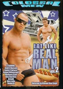 Eat Like A Real Man 2, starring Junior Carioca, Andre Dumont, Rafael Bittencourt, Renzo Araujo, Matheus Axell, Marcos De Castro, Alex Bad Boy and Alex Leite, produced by Colossal Entertainment.