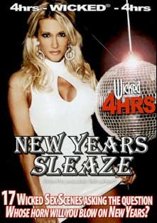 New Years Sleaze, starring Kirsten Price, Beverly Hills, Ryder Skye, Charles Dera, Kristina Rose, Justice Young, Demi Delia, Mikayla Mendez, Carmen Hart, Marcus London, Derrick Pierce, Barry Scott, Roxy DeVille, Jay Huntington, Emilianna, Gianna Lynn, Kris Knight, Kelly Wells, Jenaveve Jolie, Carly Parker, Marco Banderas, Trina Michaels, Lauren Phoenix, Jayna Oso, Diana Doll, Barrett Blade, Scotty Schwartz, Kaylani Lei, Devon Michaels, Papillon, Alexis Malone, Stormy Daniels, Aria, Avy Scott, Halli Aston, Cheyne Collins, Flick  Shagwell, Johnni  Black, Aurora Snow, Sunrise Adams, Scott Styles, Nicole Sheridan, Ruby Jewel, Sky Taylor, Dillion Day, Devinn Lane, Bridgette Kerkove, Cheyenne Silver, Violet, Brad Armstrong, Juli Ashton, Vince Voyeur, Voodoo, Brick Majors, Mark Davis, Chris Cannon, Michael J. Cox, Randy Spears, Randy West, Montana Gunn, Tricia Deveraux, Gina Ryder, Jessica Drake and Evan Stone, produced by Wicked Pictures.