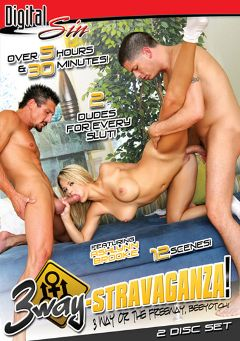 "Adult entertainment movie ""3 Way-Stravaganza Part 2"" starring Ashlynn Brooke, Alex Gonz & Laurie Vargas. Produced by Digital Sin."