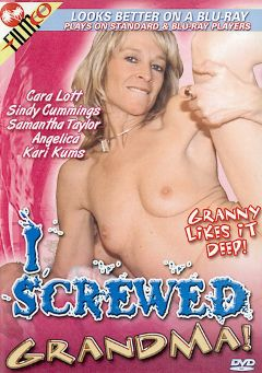 "Adult entertainment movie ""I Screwed Grandma"" starring Sindy Cummings, Samantha Taylor & Kari Kums. Produced by Filmco."