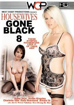 "Adult entertainment movie ""Housewives Gone Black 8"" starring Armani St. James, Dana DeArmond & Charlotte Vale. Produced by West Coast Productions."