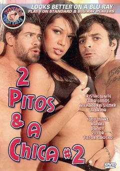 "Adult entertainment movie ""2 Pitos And A Chica 2"" starring Ju Pantera, Hilary (f) & Paula Moreno. Produced by Totally Tasteless Video."