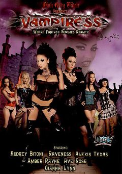 "Adult entertainment movie ""Vampiress"" starring Alexis Texas, Audrey Bitoni & Ava Rose. Produced by Pink Kitty Video."