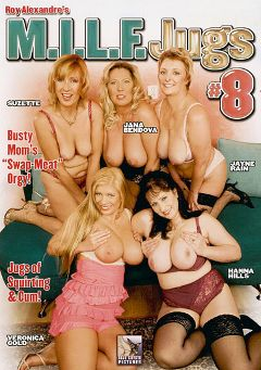 "Adult entertainment movie ""M.I.L.F. Jugs 8"" starring Suzette, Jayne Rayne & Hanna Hills. Produced by Blue Coyote Pictures."