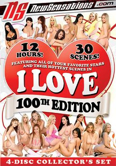 "Adult entertainment movie ""I Love 100th Edition"" starring Lana Violet, Jaelyn Fox & Carmen McCarthy. Produced by New Sensations."