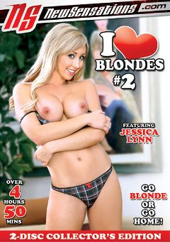 "Adult entertainment movie ""I Love Blondes 2 Part 2"" starring Jessica Lynn, Kagney Linn Karter & Eden Adams. Produced by New Sensations."