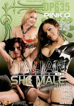 "Adult entertainment movie ""Italian She Male 32"" starring Camilla Jolie, Manuela (o) & Marina (o). Produced by Pinko Enterprises."