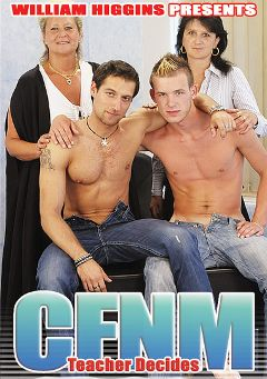 "Adult entertainment movie ""CFNM Teacher Decides"" starring Jurgen Reinhardt & Dan Corby. Produced by William Higgins."