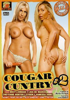 "Adult entertainment movie ""Cougar Cuntry 2"" starring Misty Vonage, Lisa DeMarco & Jack Fountain. Produced by Rapture Entertainment."