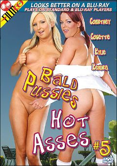 "Adult entertainment movie ""Bald Pussies Hot Asses 5"" starring Cosette Angelique, Kendra Devons & Jenner. Produced by Filmco."