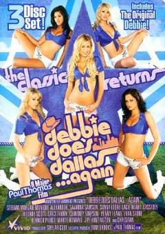 "Adult entertainment movie ""Debbie Does Dallas Again"" starring Stefani Morgan, Sunny Leone & Lacie Heart. Produced by Vivid Entertainment."
