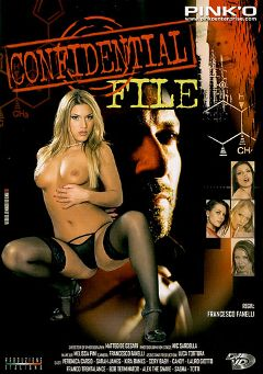 "Adult entertainment movie ""Confidential File"" starring Candy Strong, Kyra Banks & Sarah James. Produced by Pinko Enterprises."