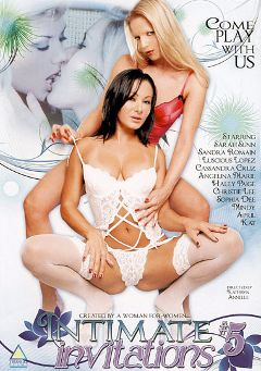 "Adult entertainment movie ""Intimate Invitation 5"" starring Sandra Romain, Sarah Sun & April Aubrey. Produced by Triangle Films."