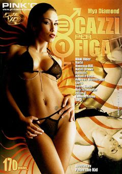 "Adult entertainment movie ""2 Cazzi Per 1 Figa"" starring Mya Diamond, Barbie (II) & Chris Mason. Produced by Pinko Enterprises."