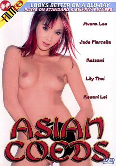 "Adult entertainment movie ""Asian Coeds"" starring Avena Lee, Keeani Lei & Lily Thai. Produced by Filmco."