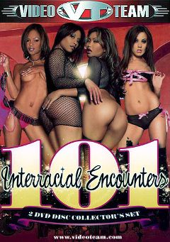 "Adult entertainment movie ""101 Interracial Encounters"" starring Amber Peach, Jayna Oso & Jada Fire. Produced by Video Team."