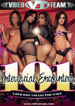 "Adult entertainment movie ""101 Interracial Encounters Part 2"" starring Amber Peach, Jayna Oso & Jada Fire. Produced by Video Team."