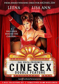 "Adult entertainment movie ""Cinesex"" starring Leena La Bianca, Lisa Ann & Amber Woods. Produced by Cal Vista Pictures."