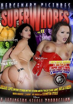 "Adult entertainment movie ""Super Whores 13"" starring Luscious Lopez, Katja Kassin & Austin Taylor. Produced by Mercenary Pictures."