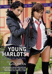 """Editors' Choice presents the adult entertainment movie """"Young Harlots: Finishing School""""."""