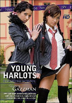 "Adult entertainment movie ""Young Harlots: Finishing School"" starring Shayla Green, Rihanna Brown & Sunny Jay. Produced by Harmony Films Ltd.."