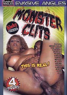 Monster Clits, starring Brown Sugar, Korina, Shenya, Tamirys, Manesha, Toni Sweets, Jewell, Darlene, Menage A Roz, Agatha, Diane, Karina, Samantha, Leah and Peaches (I), produced by Evasive Angles.
