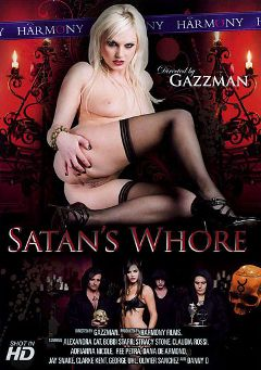 "Adult entertainment movie ""Satan's Whore"" starring Alexandra Cat, Bobbi Starr & Ree Petra. Produced by Harmony Films Ltd.."