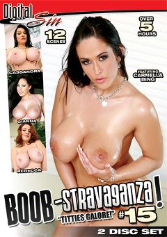 "Adult entertainment movie ""Boob-Stravaganza 15"" starring Rebecca Lane, Cassandra Calogera & Gianna Michaels. Produced by Digital Sin."
