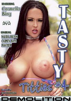"Adult entertainment movie ""Tasty Titties 4"" starring Carmella Bing, Panther (f) & Nadia Hilton. Produced by Demolition Pictures."