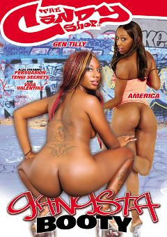 "Adult entertainment movie ""Gangsta Booty"" starring Gen Tilly, America & Tengie Sweet. Produced by Candy Shop."