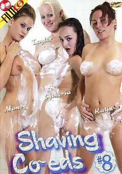 "Adult entertainment movie ""Shaving Co-eds 8"" starring Katin, Cytherea & Mandy. Produced by Filmco."