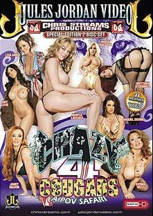 Crazy 4 Cougars Part 2, starring Janet Mason, Sienna West, Shy Love, Holly Halston, Brittany O'Connell, Raquel DeVine, Lisa Ann, Shayla Laveaux and Chris Streams, produced by Chris Streams Productions and Jules Jordan Video.