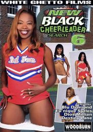 "Featured Category - Fresh Faces presents the adult entertainment movie ""New Black Cheerleader Search 6""."