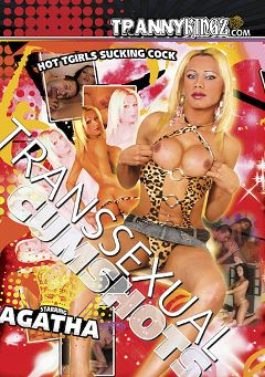 "Adult entertainment movie ""Transsexual Cumshots"" starring Agatha McCartney. Produced by Ultimate T-Girl Productions."