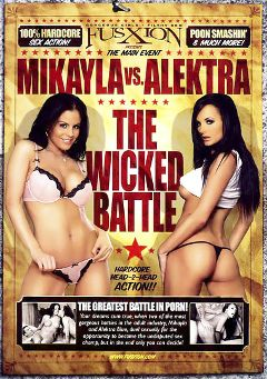 "Adult entertainment movie ""Mikayla Vs. Alektra: The Wicked Battle"" starring Mikayla Mendez, Alektra Blue & Angelina Valentine. Produced by Metro Media Entertainment."
