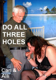 "Adult entertainment movie ""Do All Three Holes"" starring Alli & Carl Hubay. Produced by Hot Clits Video."