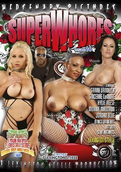 "Adult entertainment movie ""Super Whores 14"" starring Sarah Vandella, Sincerre Lemmore & Kylie Reese. Produced by Mercenary Pictures."