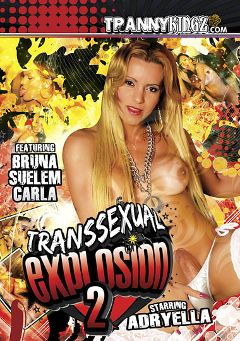 "Adult entertainment movie ""Transsexual Explosion 2"" starring Adriela Vendromine, Suelen Ferrari & Carla (o). Produced by Ultimate T-Girl Productions."