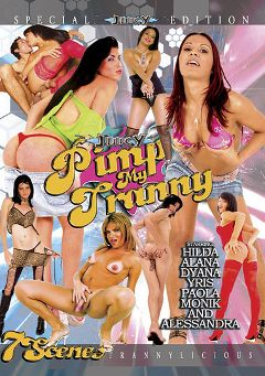 "Adult entertainment movie ""Pimp My Tranny"" starring Alana (o), Monik (o) & Dyanna. Produced by Ultimate T-Girl Productions."