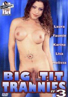"Adult entertainment movie ""Big Tit Trannies 3"" starring Laura (o), Yasmin (o) & Karina (o). Produced by Lady Boy Pictures."