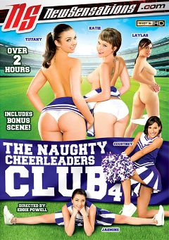 "Adult entertainment movie ""The Naughty Cheerleaders Club 4"" starring Jasmine Delatori, Katie St. Ives & Laylah Diamond. Produced by New Sensations."