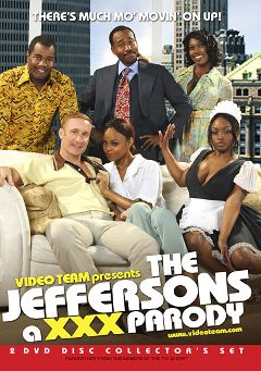 "Adult entertainment movie ""The Jeffersons  A XXX Parody: Bonus Disc"" starring Delotta Brown, Crave & Jada Fire. Produced by Video Team."