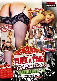 "Adult entertainment movie ""Fuck A Fan 2"" starring Natasha Nice, Whitney Stevens & Cindy Crawford. Produced by Immoral Productions."