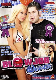 "Adult entertainment movie ""Blowjob Winner"" starring Gina Lynn, Allyssa Hall & Amanda Blue. Produced by Immoral Productions."