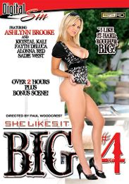 "Featured Star - Ashlynn Brooke presents the adult entertainment movie ""She Likes It Big 4""."